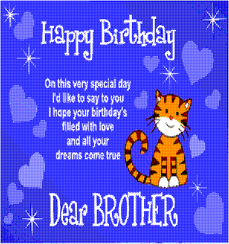 Happy Birthday Dear Brother Free For Sister ECards