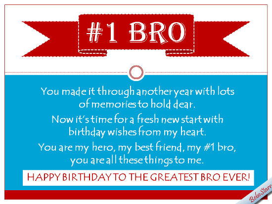 Birthday Wishes For No. One Bro.