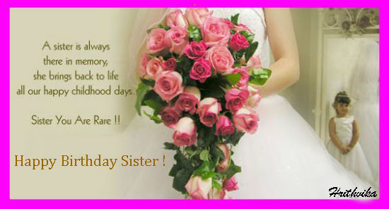 A Lovely Ecard For Your Sister On Her Birthday