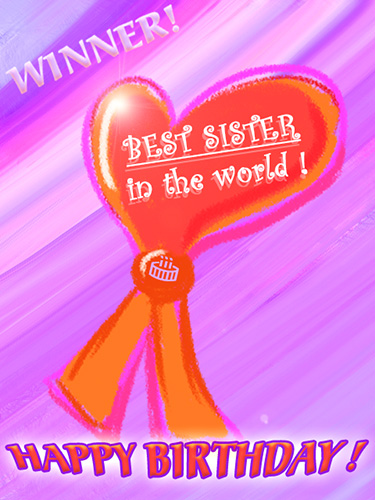 Best Sister Award Happy Birthday