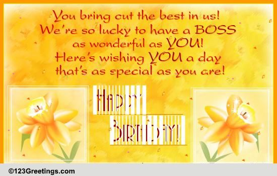 Happy Birthday Boss Free Boss Colleagues eCards Greeting Cards – Happy Birthday Cards for Boss