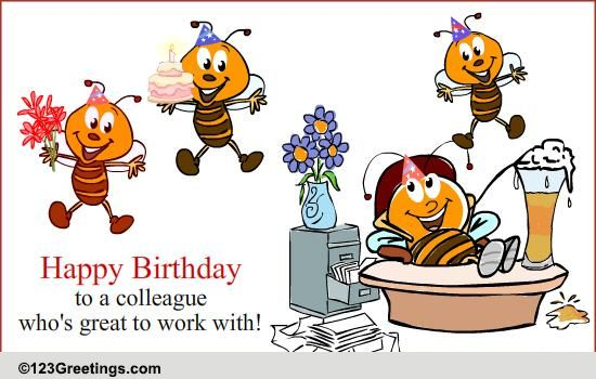Birthday Wish For A Colleague Free Boss Colleagues eCards – Happy Birthday Cards for Colleagues