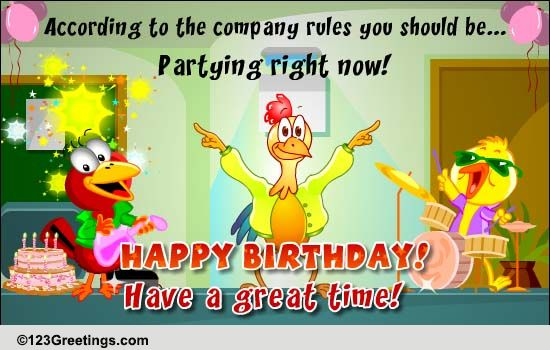 Company birthday rules free boss amp colleagues ecards 123 greetings