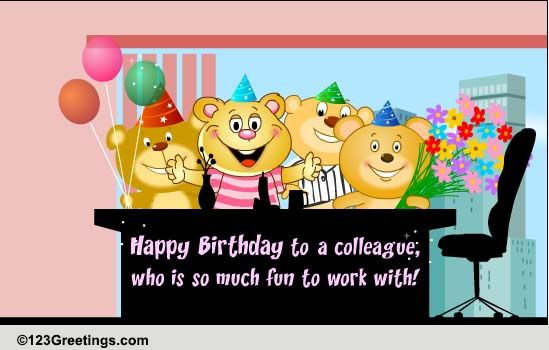 Birthday Wishes For A Colleague Free Boss Colleagues ECards