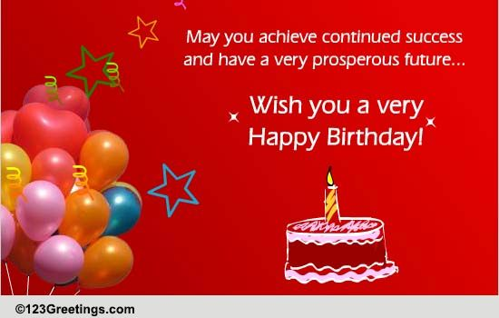 Birthday Boss Colleagues Cards Free Birthday Boss Colleagues – Birthday Card for Manager