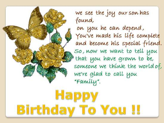 B&rsquo;day Greetings For A Special Person.