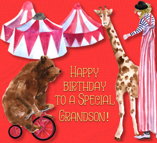 Happy Birthday To Grandson, Circus.