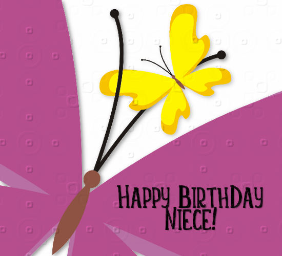 Butterflies Say Happy Birthday Niece Free Extended Family Ecards 123 Greetings