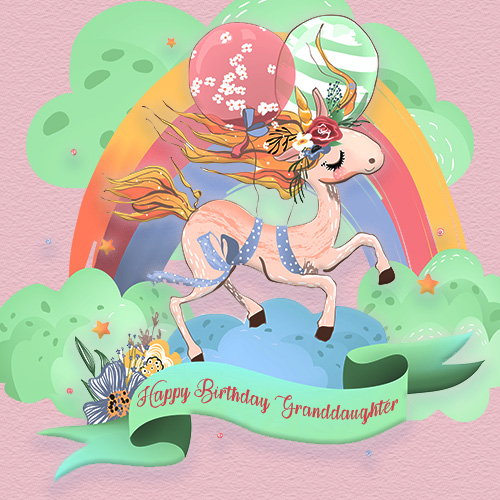 Granddaughter Birthday Pretty Unicorn