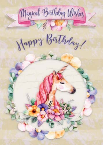 Magical Birthday Wishes Granddaughter Free Extended Family ECards