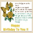 B'day Greetings For A Special Person.