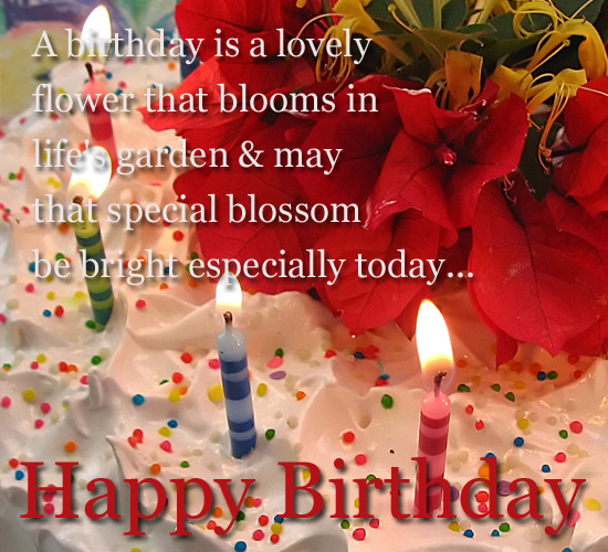 Flowers On Birthday Free ECards Greeting Cards
