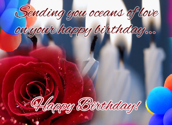 A birthday wish for your love free flowers ecards greeting cards a birthday wish for your love m4hsunfo