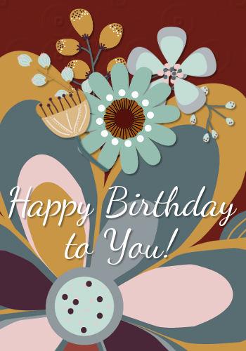 bright happy birthday flowers    free flowers ecards  greeting cards