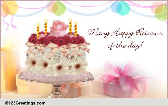 Birthday Cake Flowers And Wishes Birthday Inspiring Birthday – Happy Birthday Cake Greetings