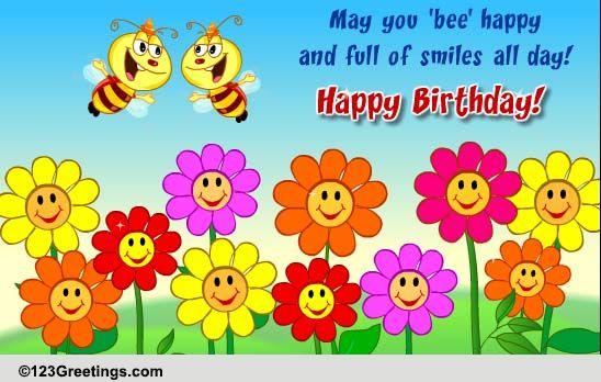 u0026 39 bee u0026 39  happy on your b u0026 39 day  free flowers ecards  greeting