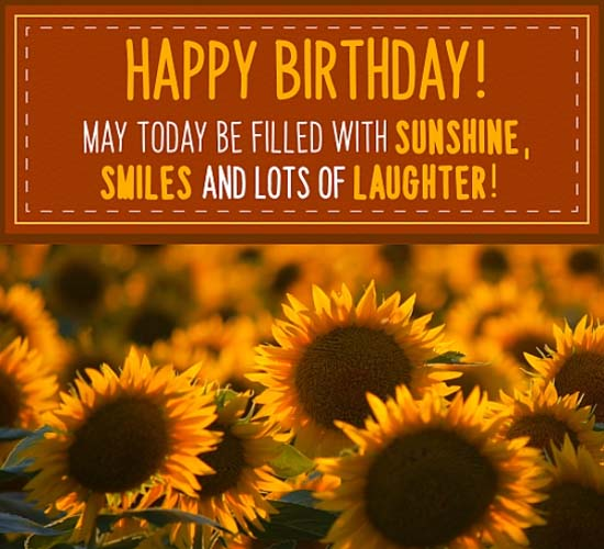 Birthday Sunflowers! Free Flowers eCards, Greeting Cards ...