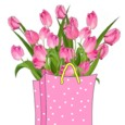 Birthday Tulips In A Bag.