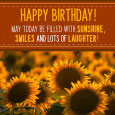Birthday Sunflowers!