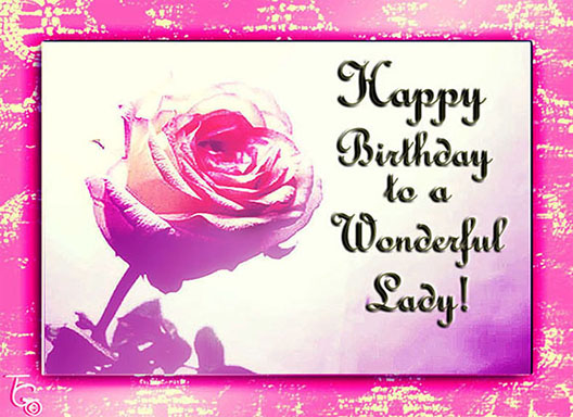 Pink Rose For A Special Lady Free Birthday For Her Ecards 123