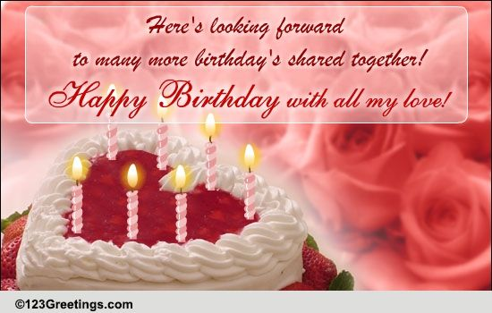 a romantic birthday message free just for her ecards, greeting, Birthday card