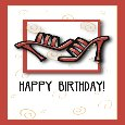 Delight Her With A Shoe Birthday Card!