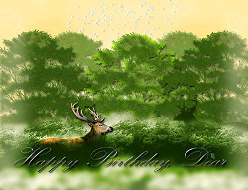 Dear Deer Birthday! Free Birthday for Him eCards, Greeting ...