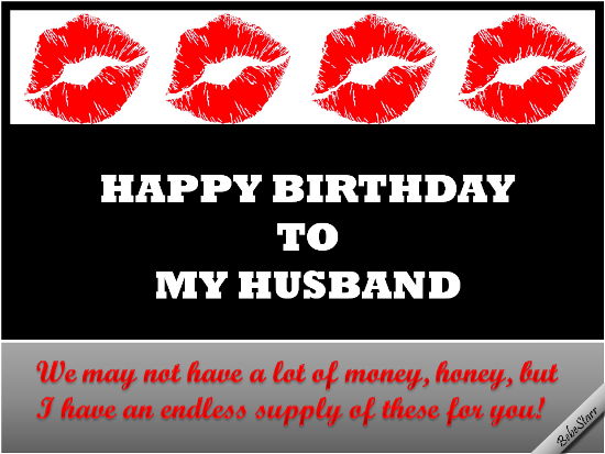 Happy Birthday To My Husband.