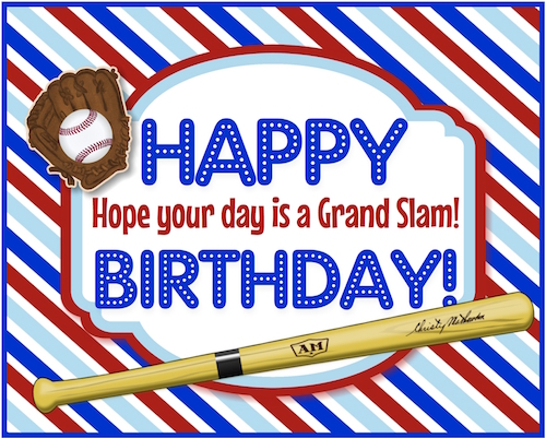 A Grand Slam Baseball Birthday.