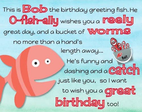 OFishAl Birthday Wishes Free Just for Him eCards Greeting – Fish Birthday Cards