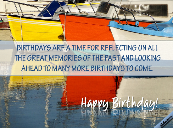 Birthday Reflections.