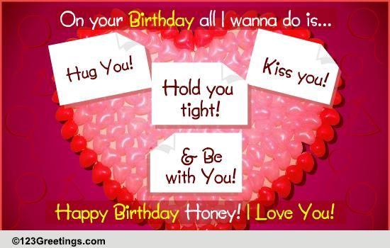 Romantic birthday balloons free for him ecards