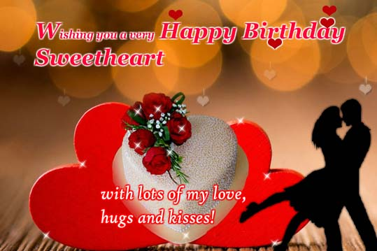 Lots Of Love Hugs And Kisses Free Birthday For Him