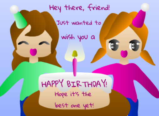 Wish A Friend Happy Birthday