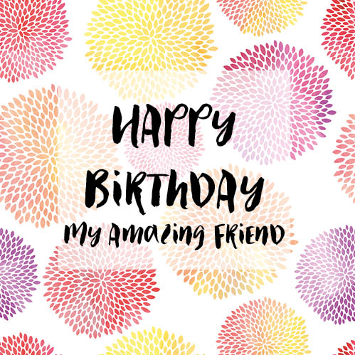 Floral amazing friend card free for best friends ecards greeting floral amazing friend card m4hsunfo