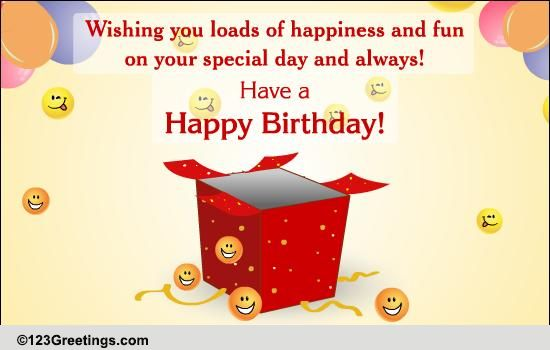 A Special Birthday Gift Free For Your Friends eCards Greeting – Card Birthday for Friends