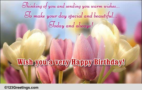 Thinking Of You Free For Your Friends eCards Greeting Cards – Send E Birthday Card