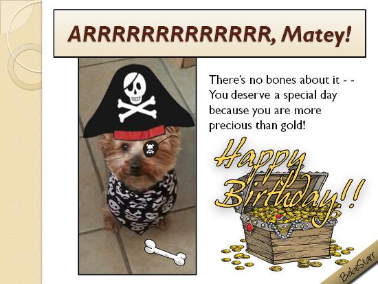 Arrrrrrrr, Matey!