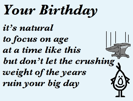Your Birthday A Funny Birthday Poem Free Funny Birthday