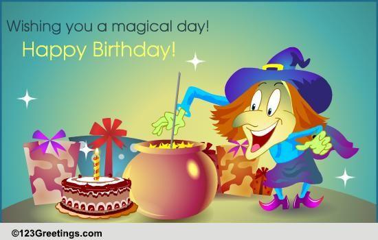 Sickeningly Magical Funny Birthday Card