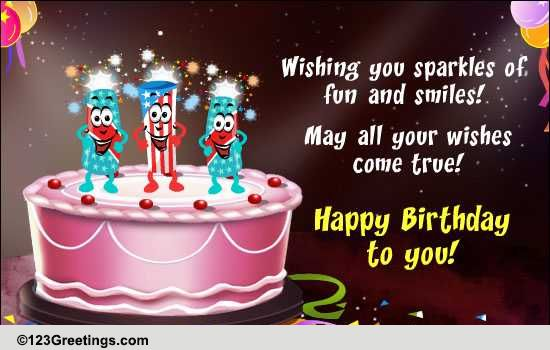 Dancing Fun Cracker Candles Free Funny Birthday Wishes