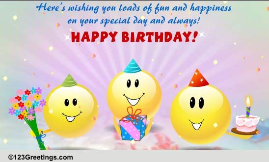 Funny Singing Smileys... Free Funny Birthday Wishes eCards ...