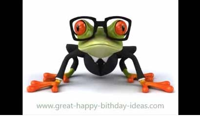 Happy Birthday Frog Song Free Funny Wishes ECards