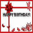 Happy Birthday With Red Gifts.
