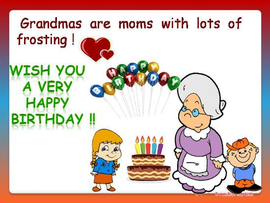 Loving Birthday Wish For Grandmom