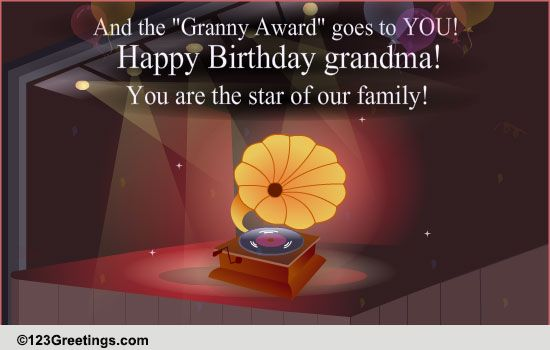Happy Birthday Granny Free Grandparents Ecards Greeting