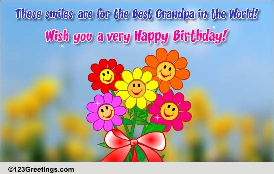 a very happy birthday grandpa free grandparents ecards, greeting, Birthday card