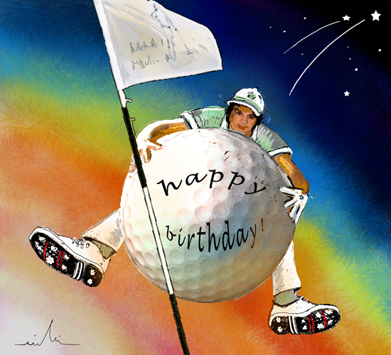 Golfing Happy Birthday Free ECards Greeting Cards