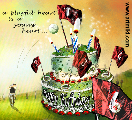 A Playful Heart Free Happy Birthday eCards Greeting Cards – Golfing Birthday Cards