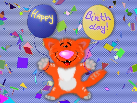 Happy Birthday Cat Free Happy Birthday eCards Greeting Cards – Free Happy Birthday E Card